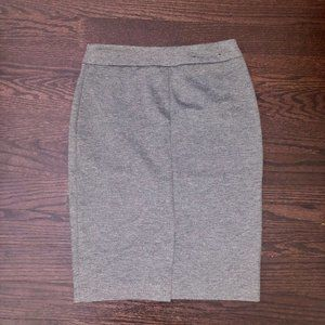 Grey Pull-On Pencil Skirt
